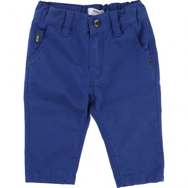 Niebieskie spodnie dla noworodka Hugo Boss 001361