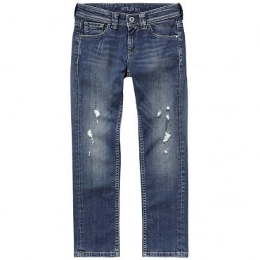 Jeansy chłopięce z przetarciami Pepe Jeans 001387
