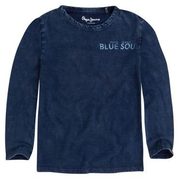 Chłopięca koszulka indygo Pepe Jeans 001391