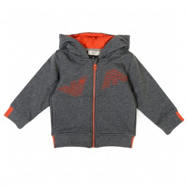 Szara bluza dla niemowlaka Armani Baby 001432