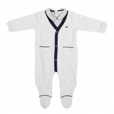 Melanżowe śpioszki niemowlęce Armani Baby 001452