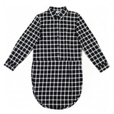 Koszula w kratę czarna 001474 Miss Grant A