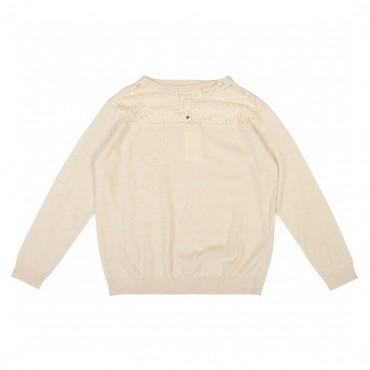 Sweter młodzieżowy z koronką Twin Set 001484