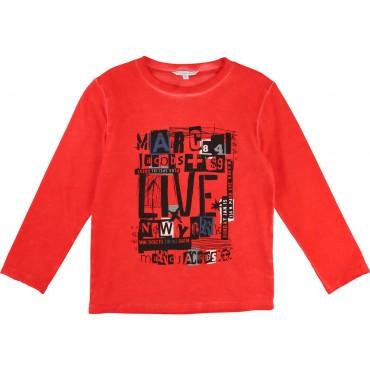 Czerwona koszulka chłopięca z nadrukiem LMJ 001498