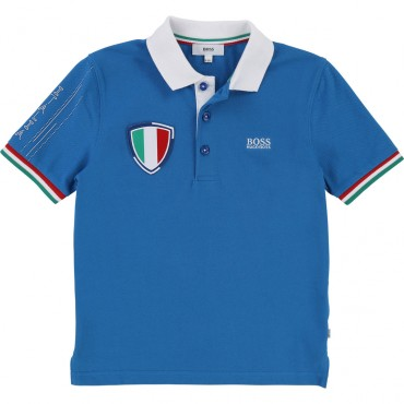 Polo dla dziecka football Italia Hugo Boss 001752