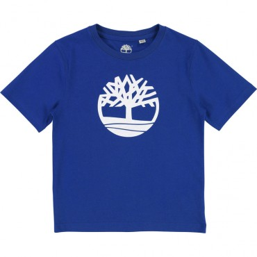 Kobaltowa koszulka dla dziecka Timberland 001780