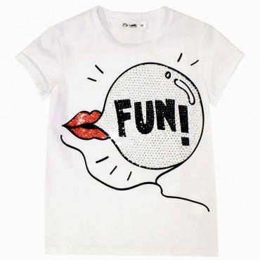 Koszulka dziewczęca z dżetami Miss Grant 001862
