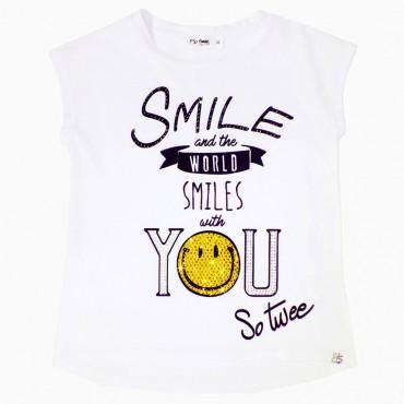 Koszulka dla dziewczynki Smile Miss Grant 001863