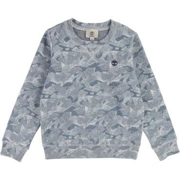 Bluza dla dziecka print roślinny Timberland 001868