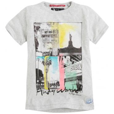 Chłopięca koszulka z nadrukiem Andy Warhol 001897