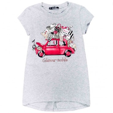 Maxi t-shirt dla dziewczynki Monnalisa 001924