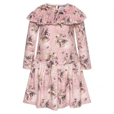 Sukienka welurowa Monnalisa 001978 A
