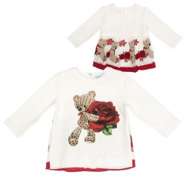 Odświętna bluzka niemowlęca Monnalisa 001989