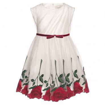 Sukienka w róże Monnalisa 001992 A