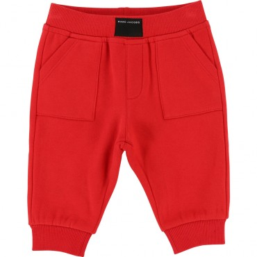 Czerwone dresy niemowlęce z monogramem LMJ 002001