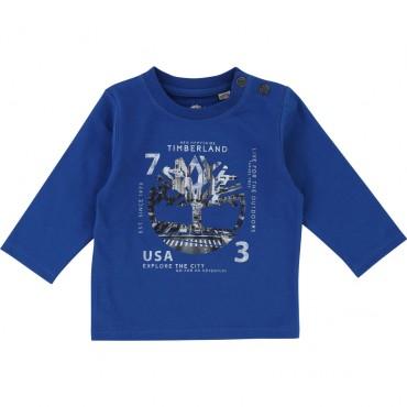 Niebieska koszulka niemowlęca Timberland 002006