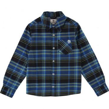Chłopięca koszula w kratę Timberland 002011