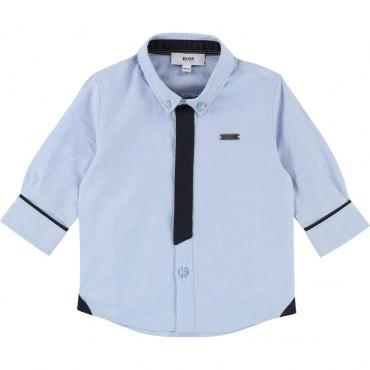 Niebieska koszula niemowlęca Hugo Boss 002018