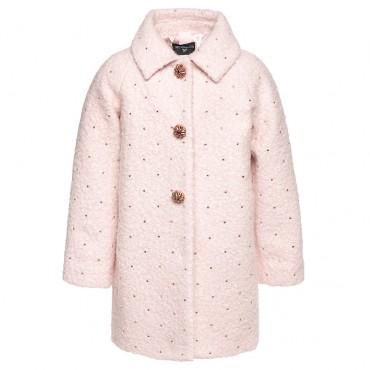 Różowy płaszcz Monnalisa 002043 przód