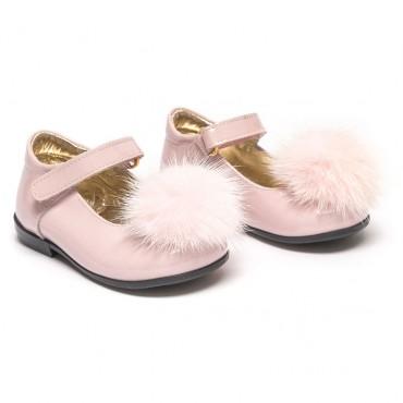 Różowe balerinki dla dziewczynki Monnalisa 002058 - ekskluzywne buty dla dzieci