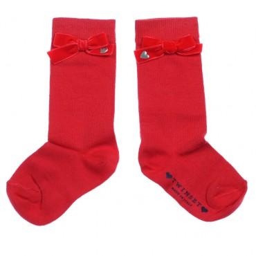 Czerwone skarpetki TWIN SET 002122 A