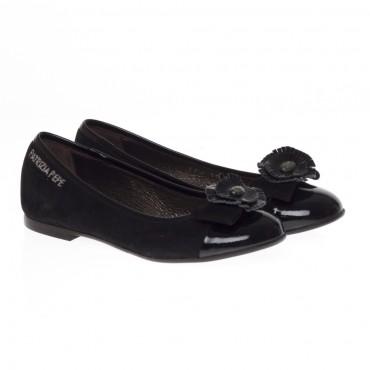 Czarne baleriny dziewczęce Patrizia Pepe PPJ101092 - oryginalne obuwie dla dzieci i młodzieży - sklep internetowy euroyoung.pl