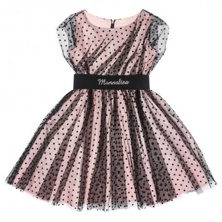 Sukienka w kropki Monnalisa 002191 A
