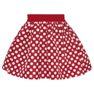 Dziewczęca spódnica w grochy Monnalisa 002202