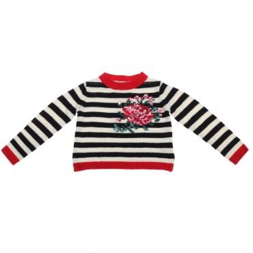 Sweter w paski Twin Set 002214 przód