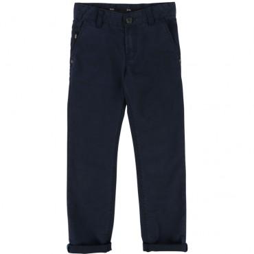 Bawełniane spodnie dla chłopca Hugo Boss 002239