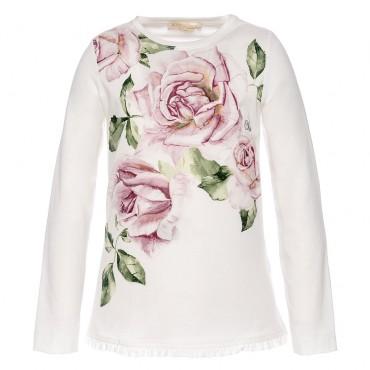 Koszulka dla dziewczynki w róże Monnalisa 002262