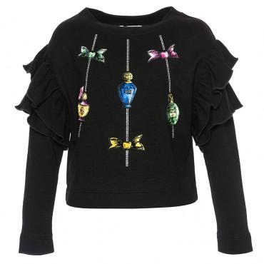 Czarna bluzka dziewczęca Monnalisa 002310