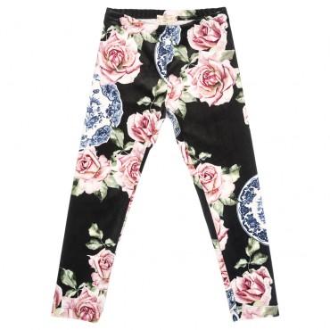 Welurowe legginsy dla dziewczynki Monnalisa 002324