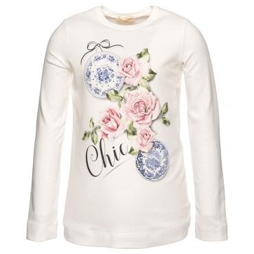 Koszulka dla dziecka w róże Monnalisa Chic 002325