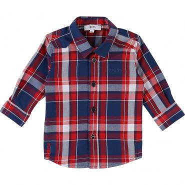 Koszula w kratę dla dziecka Hugo Boss 002327