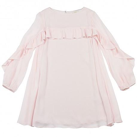 Sukienka różowa z falbaną Patrizia Pepe 002347 A