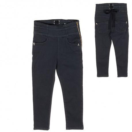 240c13c3eff9c9 Spodnie z wysokim stanem dziewczęce Patrizia Pepe - ubrania dla ...