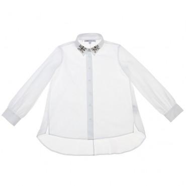 Biała bluzka z rękawem 002356 Patrizia Pepe A