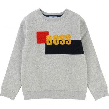 Bluza chłopięca z detalem frotte Hugo Boss 002382