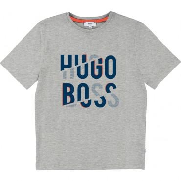 Bawełniana koszulka dla dziecka Hugo Boss 002383