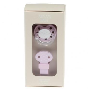 Smoczek różowy Armani Baby 002396 A