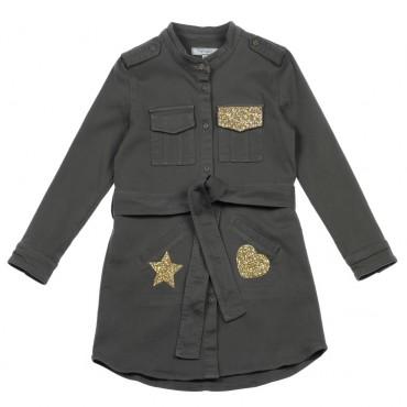 Militarna sukienka dziewczęca Twin Set 002413