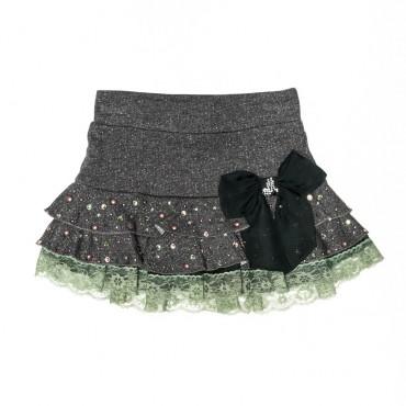 Spódnica dziewczęca MONNALISA z kokardą 002431
