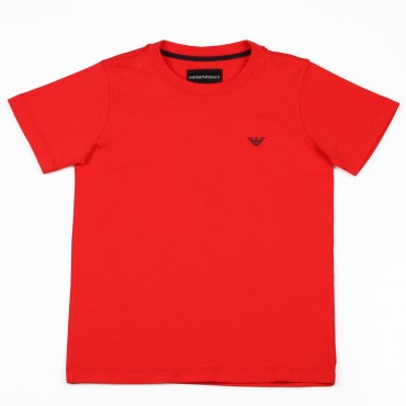 Czerwony t-shirt dla dziecka Emporio Armani 002442