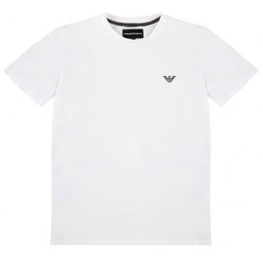 Biały t-shirt dla dziecka Emporio Armani 002443