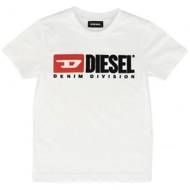 Biała koszulka dla dziecka Diesel permanent 002450