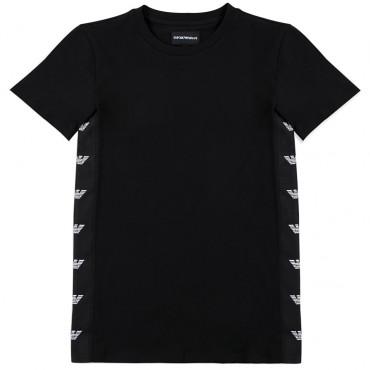 Czarna koszulka dla dziecka Emporio Armani 002462