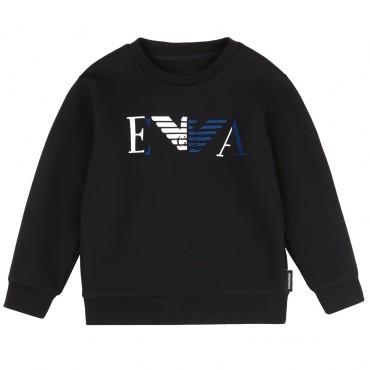 Czarna bluza mini me z logo Emporio Armani 002466