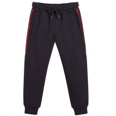 Sportowe spodnie chłopięce z wiskozy Armani 002467