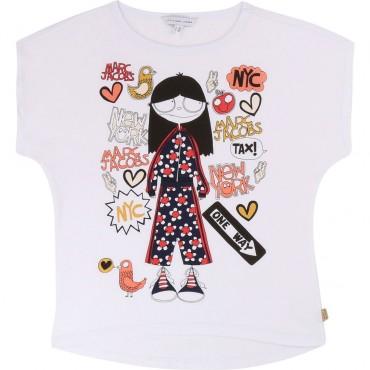 Koszulka dla dziewczynki Little Marc Jacobs 002512